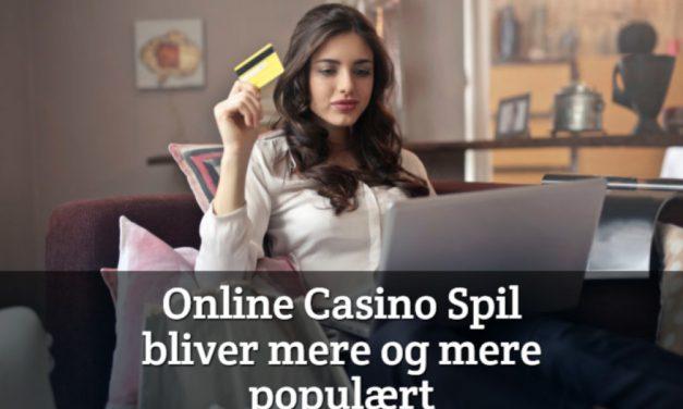 Online casino spil bliver mere og mere populært